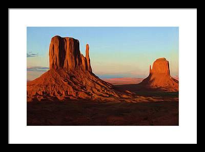 Monument Valley Framed Prints