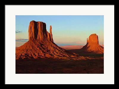 Monument Digital Art Framed Prints