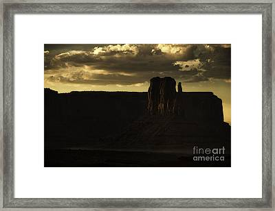 Monument Valley 3 Framed Print by Richard Mason