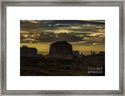 Monument Valley 4 Framed Print by Richard Mason