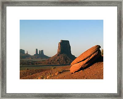 Monument Valley Afternoon Framed Print