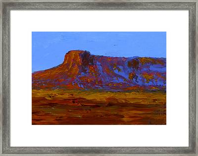 Monument Valley At Sunset Framed Print