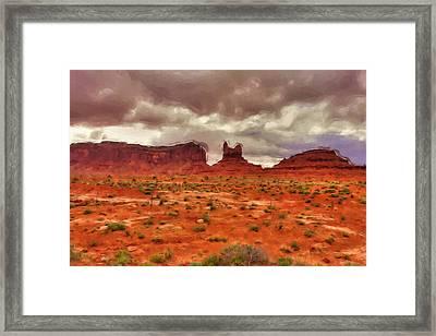 Monument Valley Framed Print by Inspirowl Design