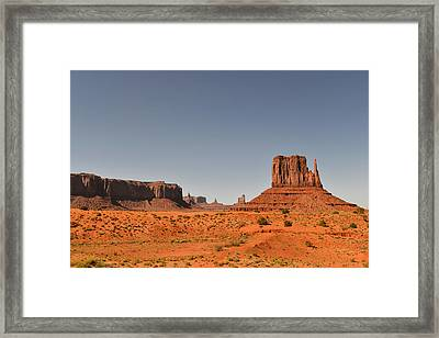 Monument Valley - Beauty Created By Nature Framed Print by Christine Till