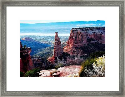 Framed Print featuring the photograph Monument Valley Colorado by Polly Peacock