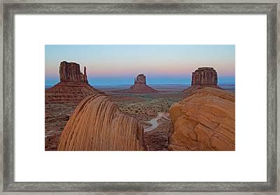 Monument Valley Evening Framed Print