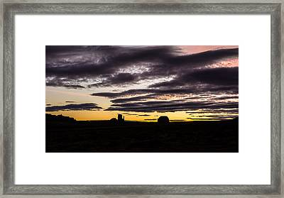Framed Print featuring the photograph Monument Valley First Light by Todd Aaron