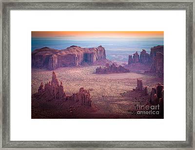 Monument Valley From Hunts Mesa Framed Print by Inge Johnsson