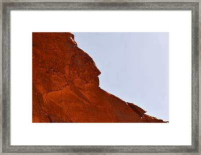 Monument Valley Indian Chief Framed Print by Christine Till