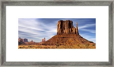 Monument Valley -  Left Mitten Framed Print by Mike McGlothlen