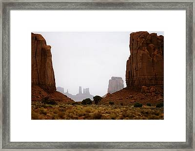 Monument Valley Mist Framed Print