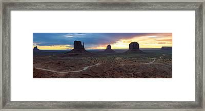 Monument Valley Navajo Tribal Park An Image Worth More Than A Thousand Words Framed Print by Silvio Ligutti