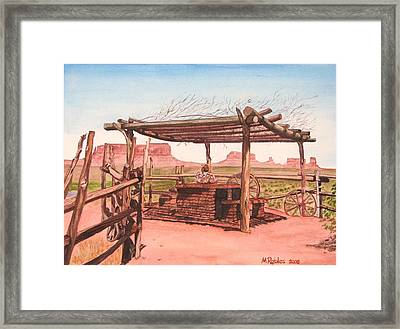 Monument Valley Overlook Framed Print by Mike Robles