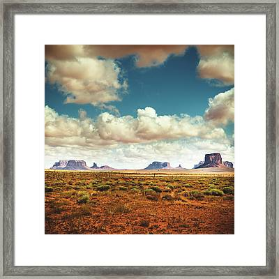 Monument Valley Panoramic View Framed Print by Franckreporter