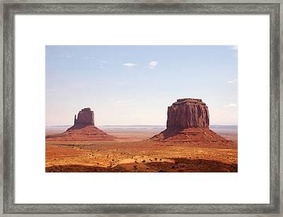 Monument Valley Framed Print by Paul Van Baardwijk
