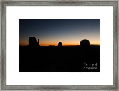 Monument Valley Sunrise Framed Print by Jeff Kolker
