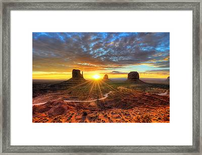 Monument Valley Sunrise Framed Print