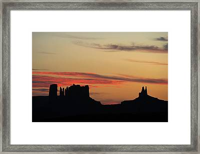 Monument Valley Sunset 1 Framed Print