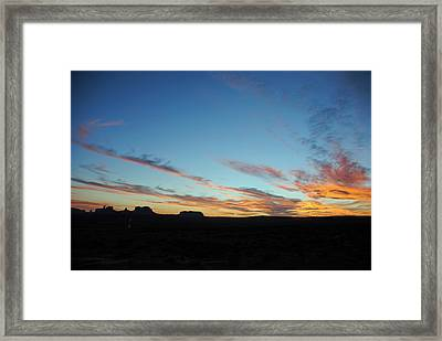 Monument Valley Sunset 2 Framed Print