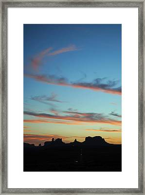 Monument Valley Sunset 3 Framed Print