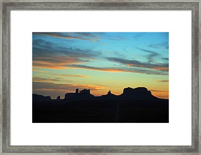 Monument Valley Sunset 4  Framed Print