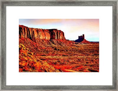 Monument Valley Sunset By Bob Johnston Framed Print by Bob and Nadine Johnston