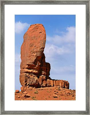 Monument Valley - The Thumb Framed Print by Christine Till
