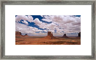 Monument Valley Tribal Park Az Framed Print by Panoramic Images