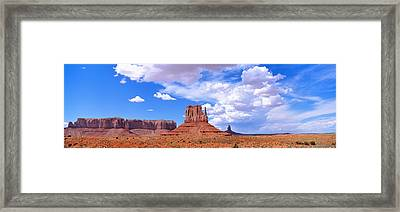 Monument Valley Tribal Park Az Usa Framed Print by Panoramic Images