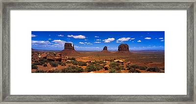 Monument Valley Ut \ Az Framed Print by Panoramic Images