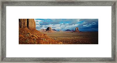 Monument Valley, Utah, Arizona, Usa Framed Print by Panoramic Images