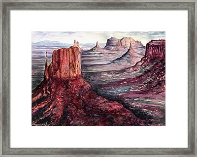 Monument Valley Arizona - Landscape Art Painting Framed Print