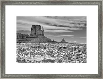 Monument Valley Winter Framed Print by Mel Felix