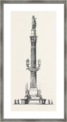 Monumental Fountain Recently Erected At Barcelona Framed Print