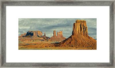 Framed Print featuring the painting Monumental by Jeff Kolker