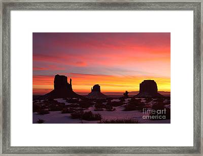 Monumental Sunrise Framed Print