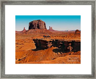 Monumental Valley View Framed Print by Robert Bales