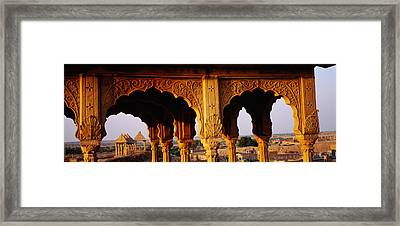 Monuments At A Place Of Burial Framed Print