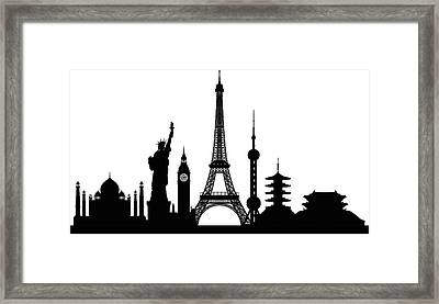 Monuments Buildings Are Complete And Framed Print by Leontura