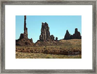 Framed Print featuring the photograph Monuments by Fred Wilson