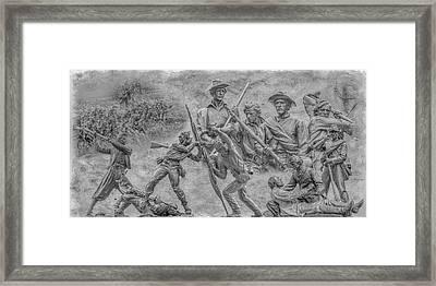 Monuments On The Gettysburg Battlefield Ver 2 Framed Print