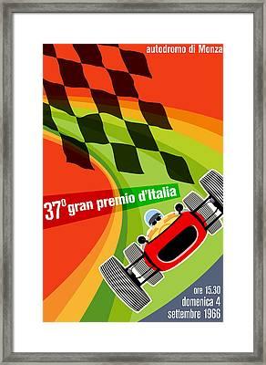 Monza Grand Prix 1966 Framed Print by Georgia Fowler