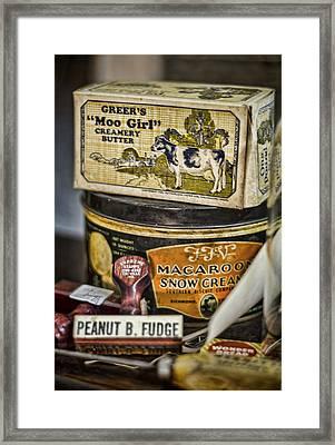 Moo Girl Framed Print
