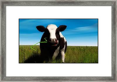 Framed Print featuring the digital art Moo... by Tim Fillingim