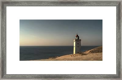 Mood At The Lighthouse Framed Print