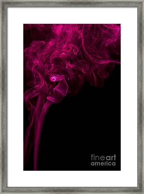 Mood Colored Abstract Vertical Purple Smoke Wall Art 01 Framed Print
