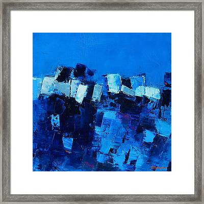 Mood In Blue Framed Print