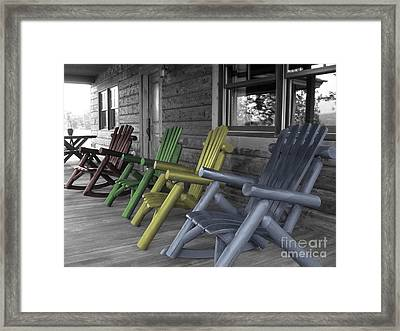 Mood Seating Framed Print by Janice Westerberg