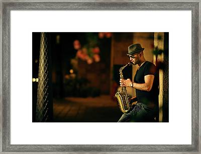 Mood With Jazz Framed Print