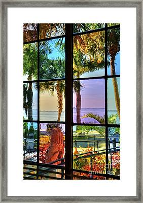Moods In Stained Glass Framed Print